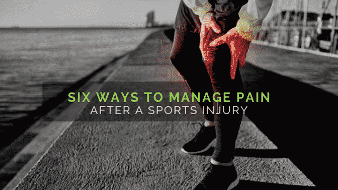 Six ways to manage pain after a sports injury