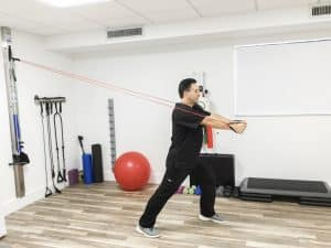 physical rehabilitation exercise after a car accident
